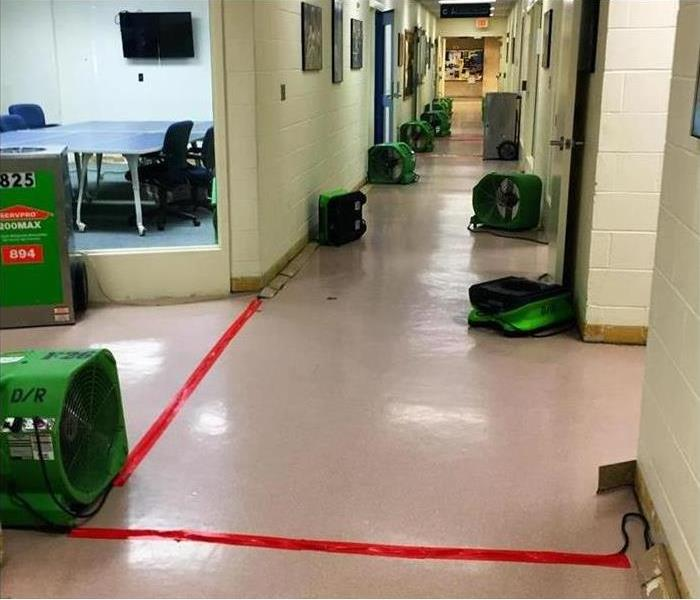 green equipment completing the drying, looks dry
