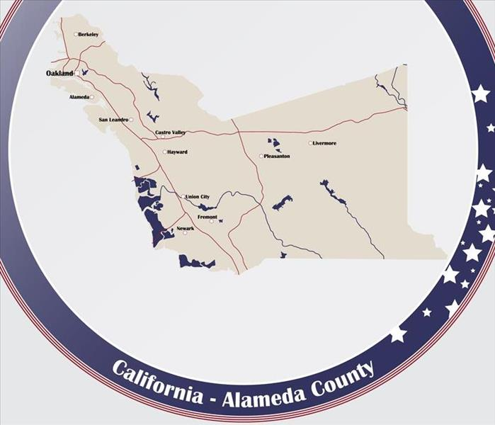 A map of a county in California